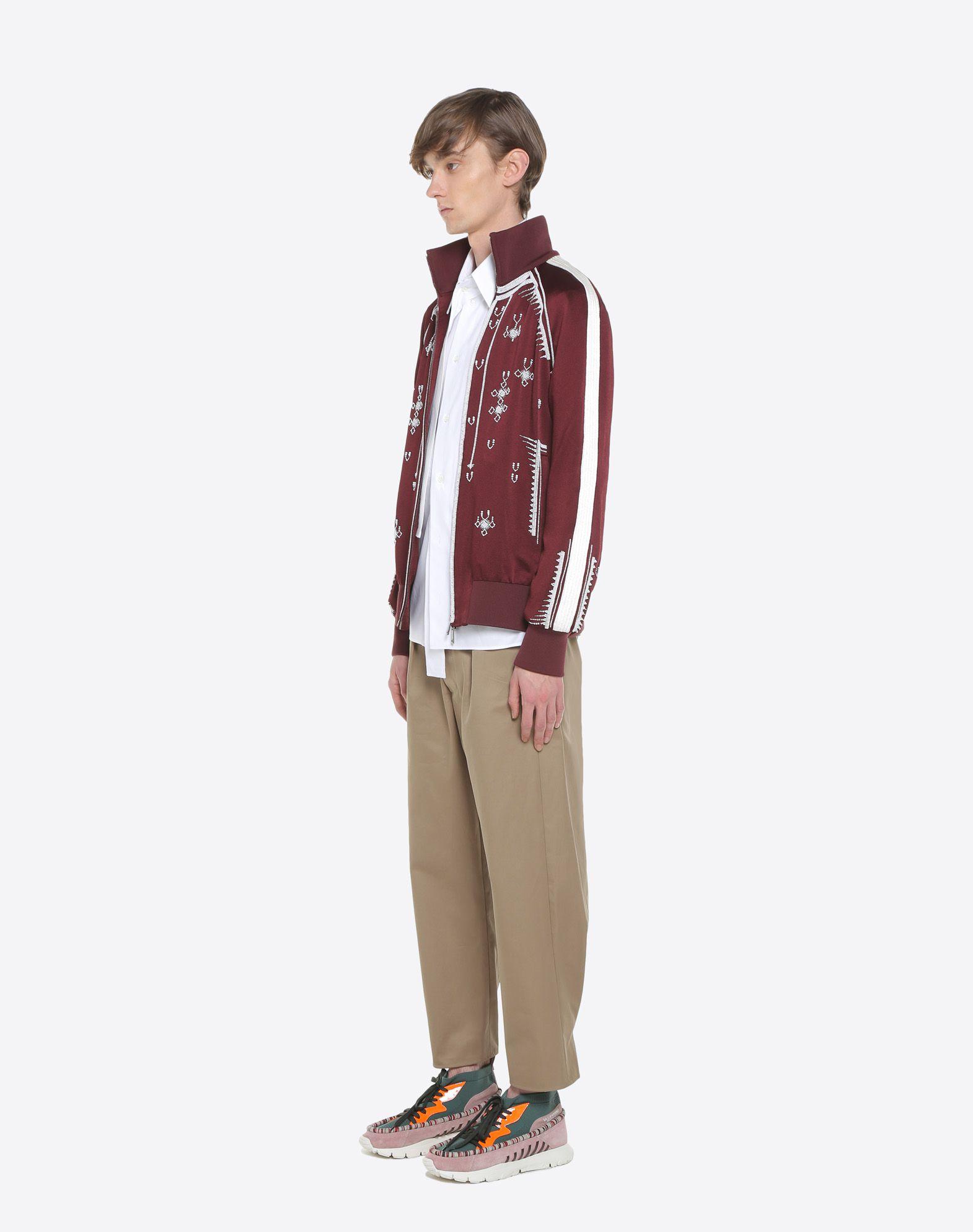 VALENTINO UOMO Sweatshirt with geometric embroidery JACKET U d