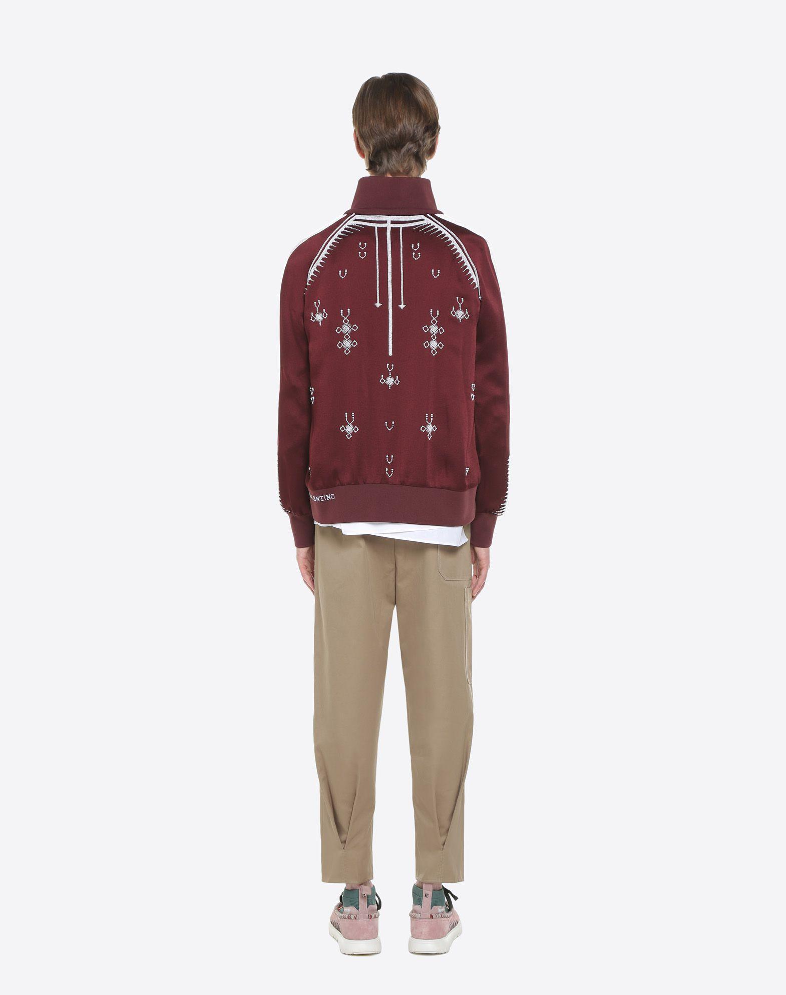 VALENTINO UOMO Sweatshirt with geometric embroidery JACKET U e