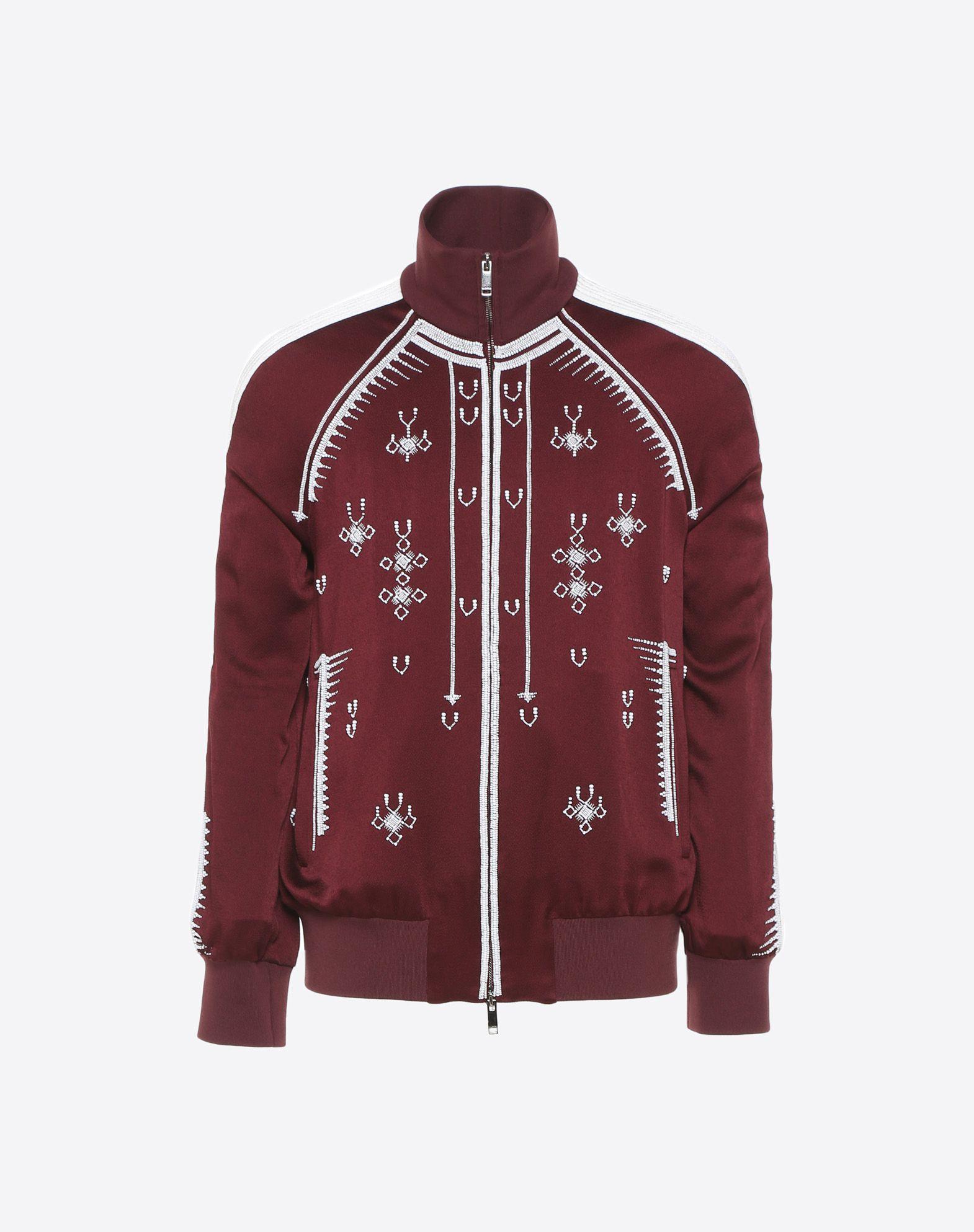 VALENTINO UOMO Sweatshirt with geometric embroidery JACKET U f