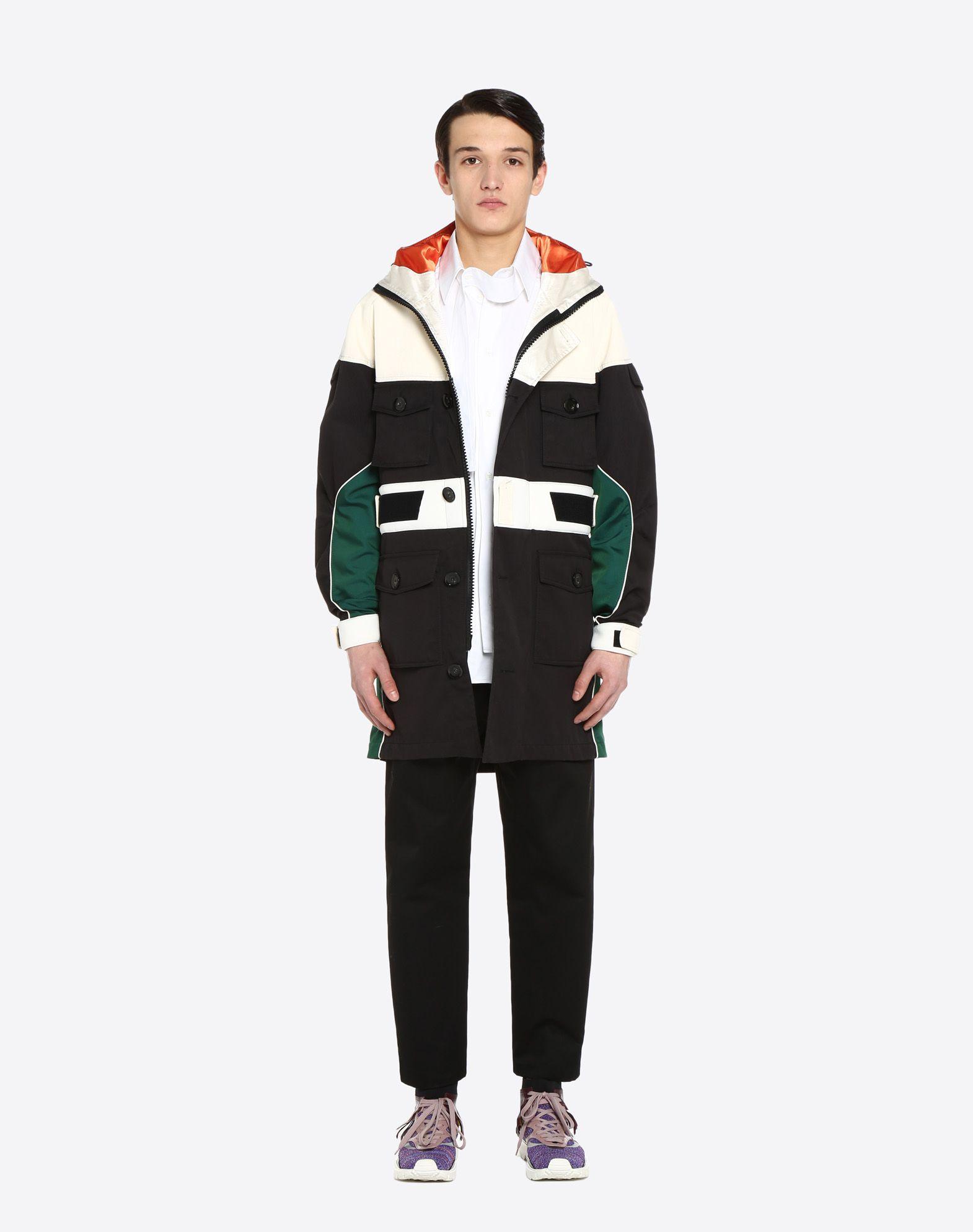 VALENTINO UOMO Casual technical jacket PEA COAT U r