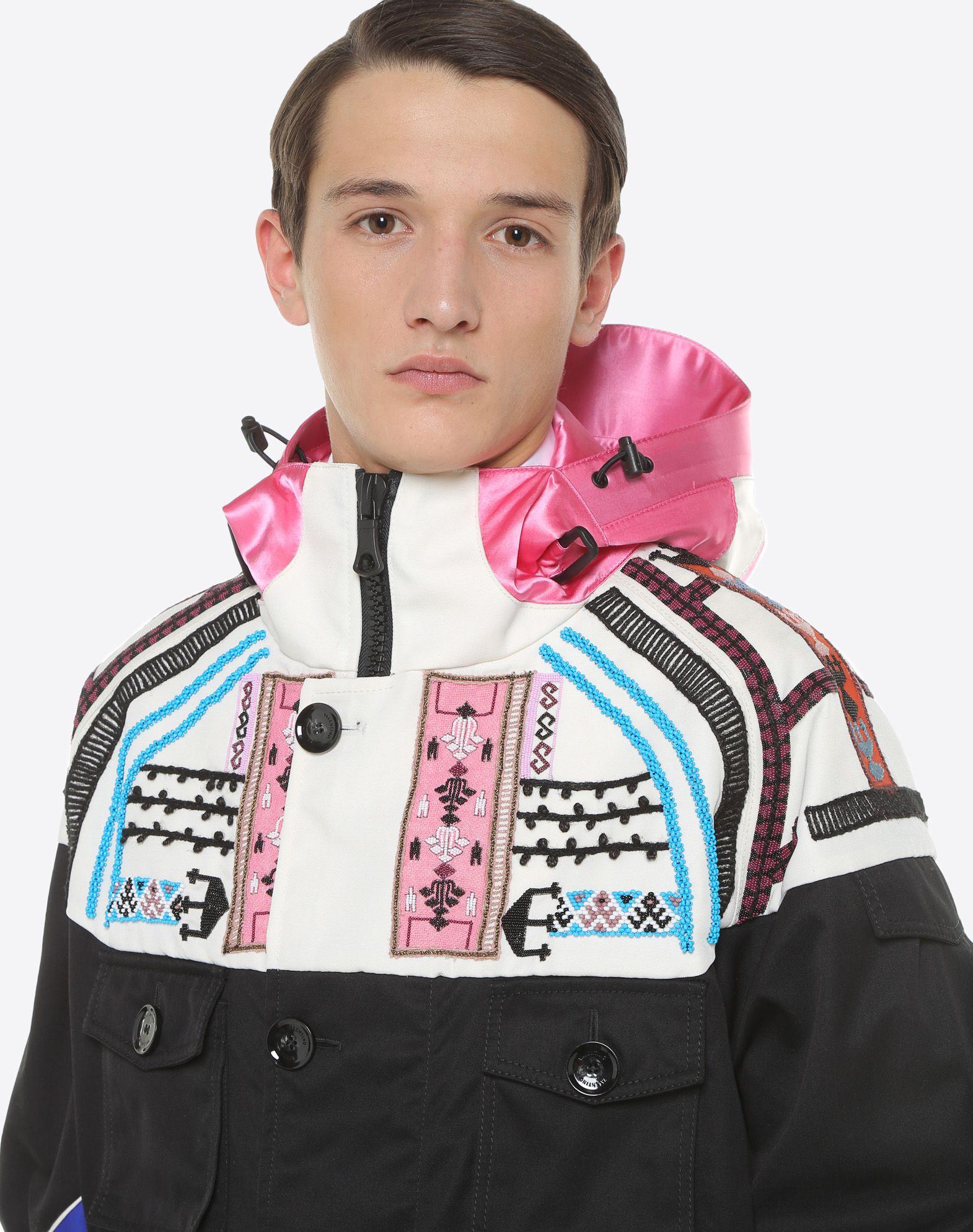 VALENTINO UOMO Casual jacket with geometric embroidery PEA COAT U a