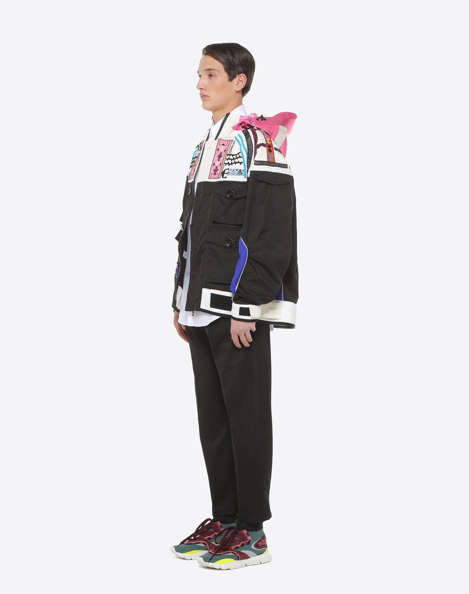 VALENTINO UOMO Casual jacket with geometric embroidery PEA COAT U d