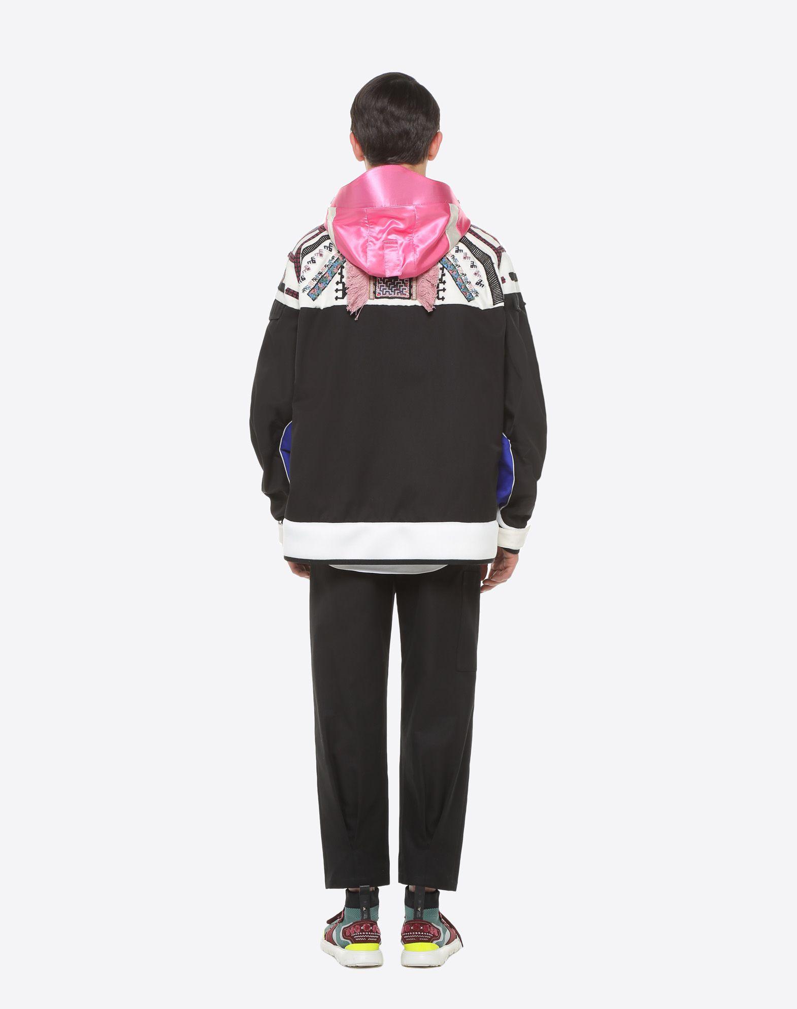 VALENTINO UOMO Casual jacket with geometric embroidery PEA COAT U e