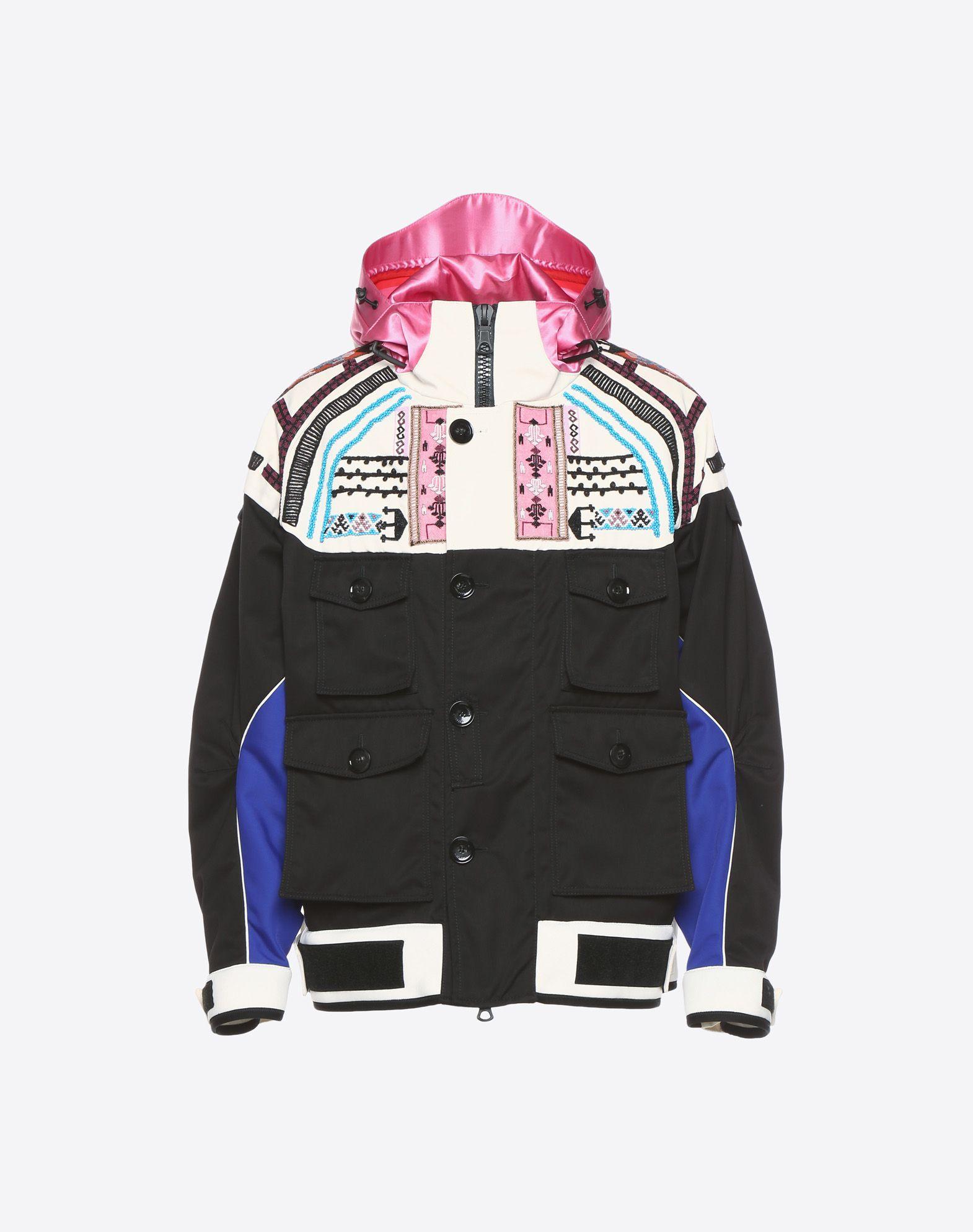 VALENTINO UOMO Casual jacket with geometric embroidery PEA COAT U f