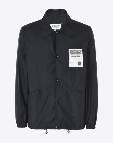 MAISON MARGIELA Nylon rain jacket Full-length jacket U f