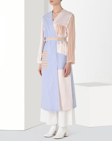 MM6 MAISON MARGIELA Coat Woman Cotton stripe 'blouse blanche' f