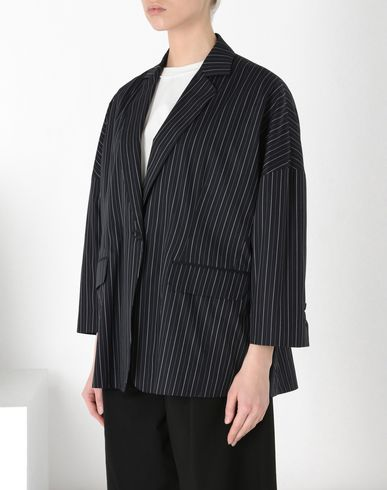 MM6 MAISON MARGIELA Stripe cotton jacket Blazer D f