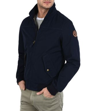 NAPAPIJRI ACASTER MAN SHORT JACKET,DARK BLUE
