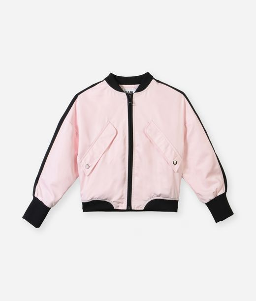 KARL LAGERFELD Karl signature pink bomber 12_f