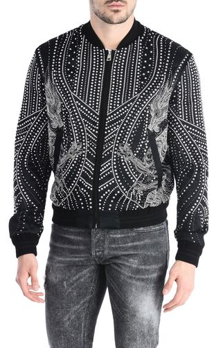 Studded dragon bomber jacket