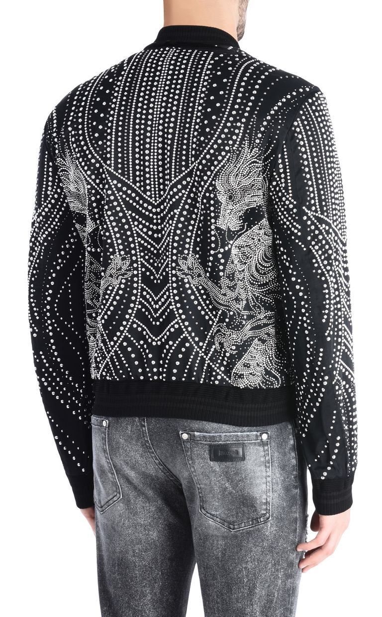 JUST CAVALLI Studded dragon bomber jacket Jacket Man d