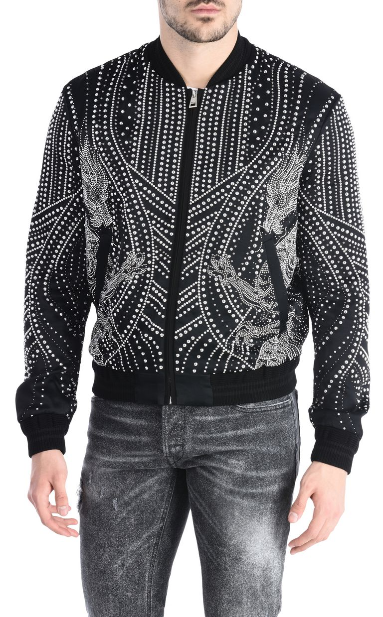 JUST CAVALLI Studded dragon bomber jacket Jacket Man f