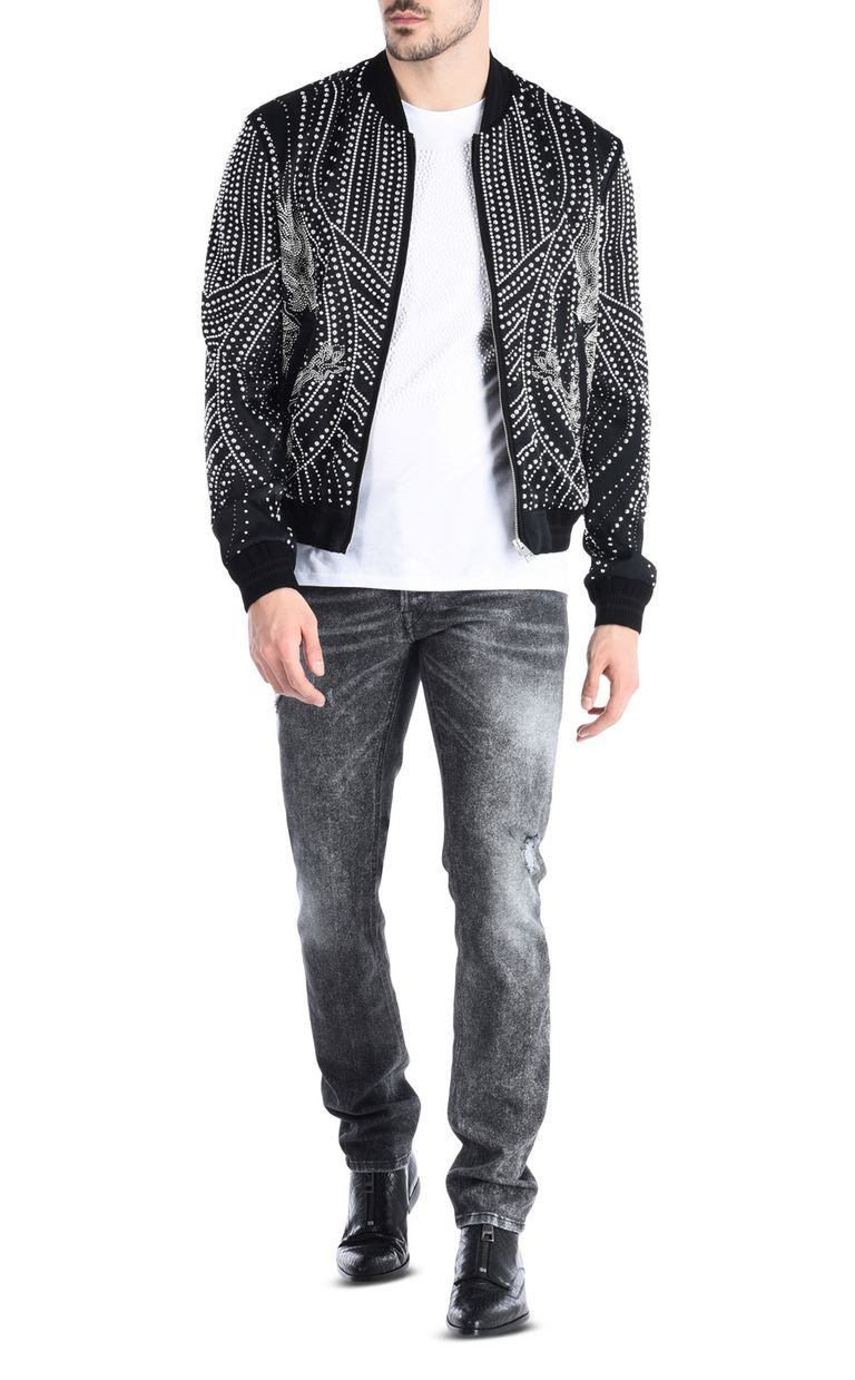 JUST CAVALLI Studded dragon bomber jacket Jacket Man r