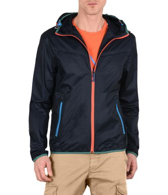 NAPAPIJRI ARRAS PACKABLE MAN SHORT JACKET,DARK BLUE