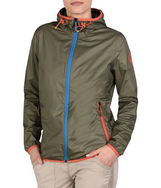 NAPAPIJRI ARRAS PACKABLE WOMAN SHORT JACKET,MILITARY GREEN