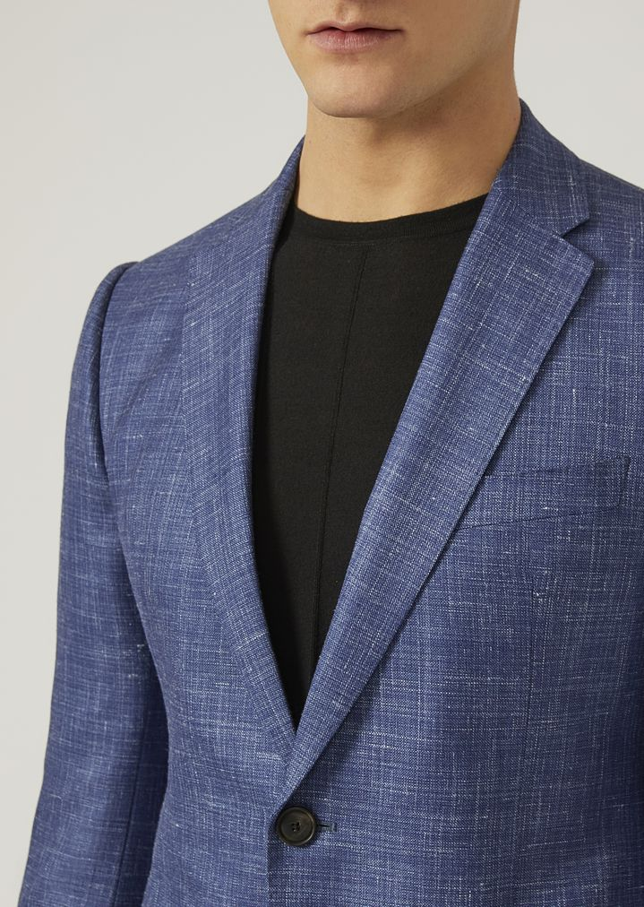 084bc3ffd0 Jacket in silk, linen and wool blend | Man | Emporio Armani