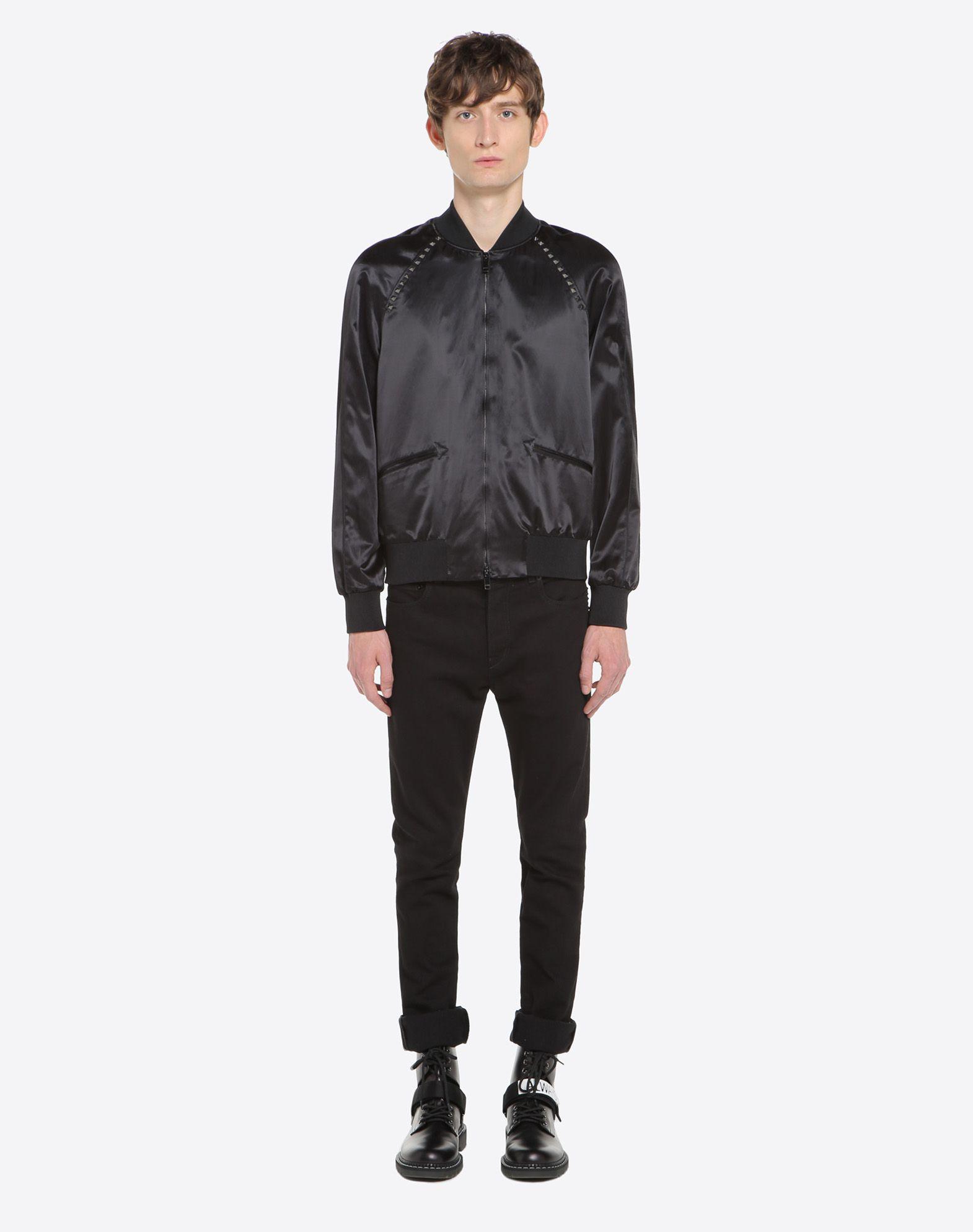 VALENTINO Rockstud Untitled Souvenir Jacket JACKET U r