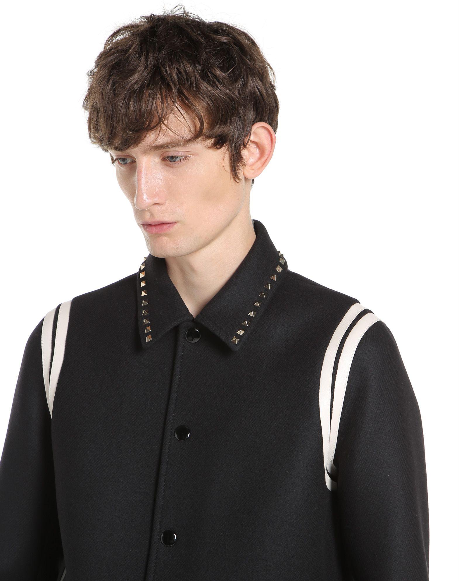 VALENTINO Rockstud Untitled Varsity Jacket JACKET U a