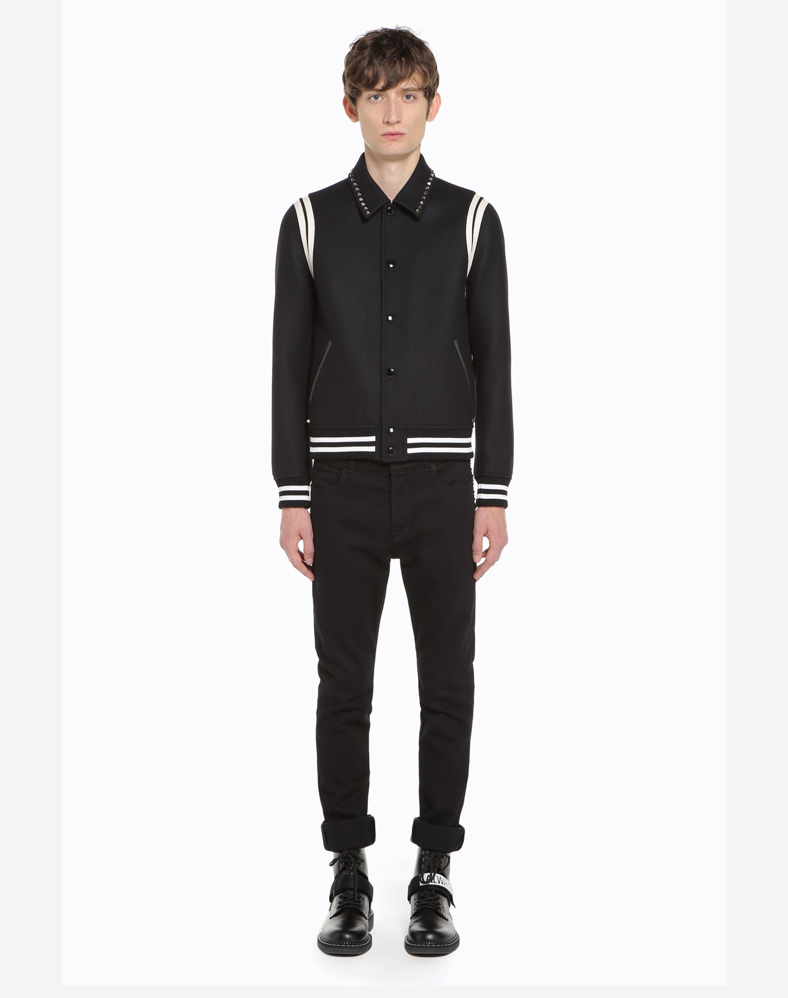 VALENTINO Rockstud Untitled Varsity Jacket JACKET U r