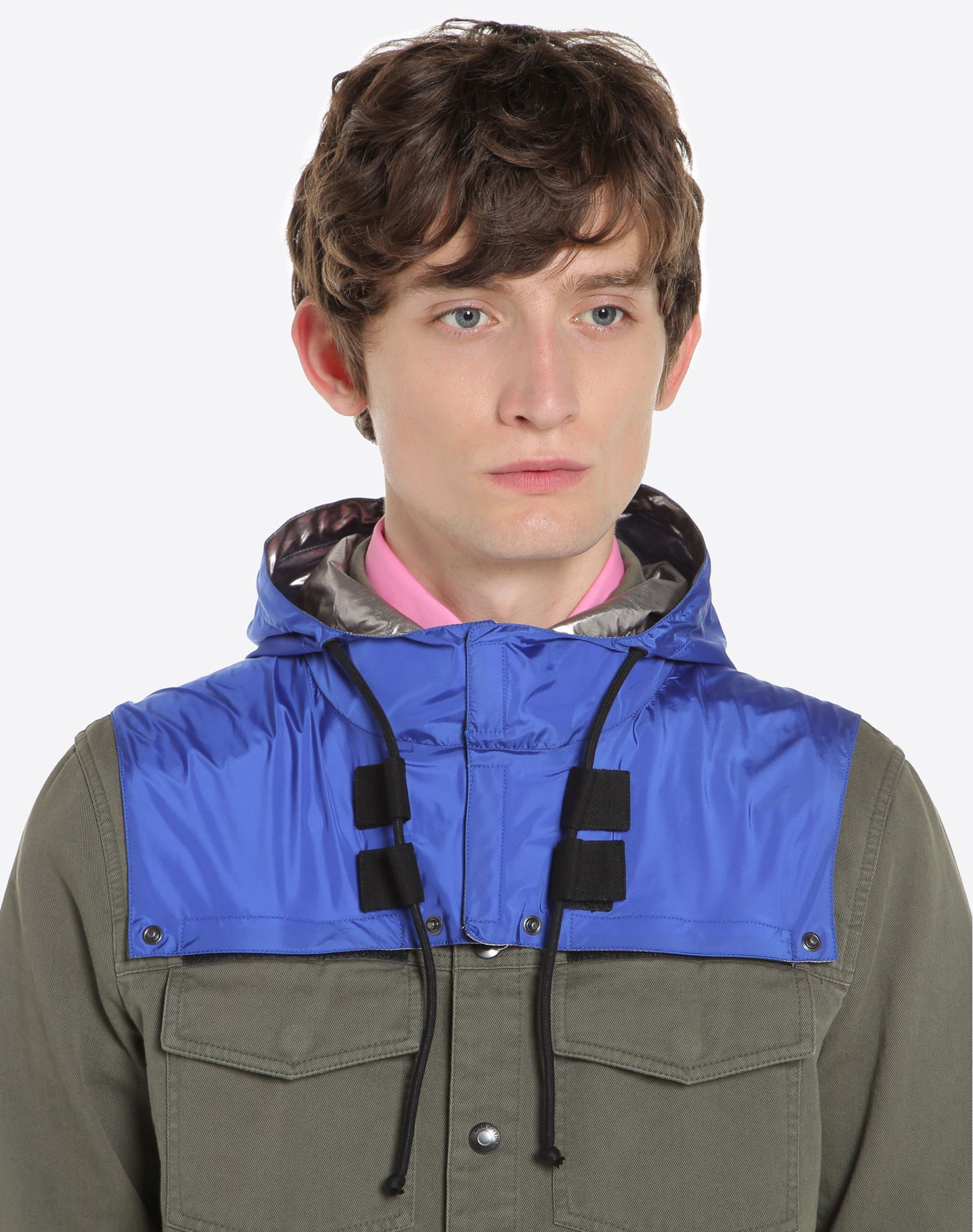 VALENTINO Outerwear shirt with nylon hood JACKET U a