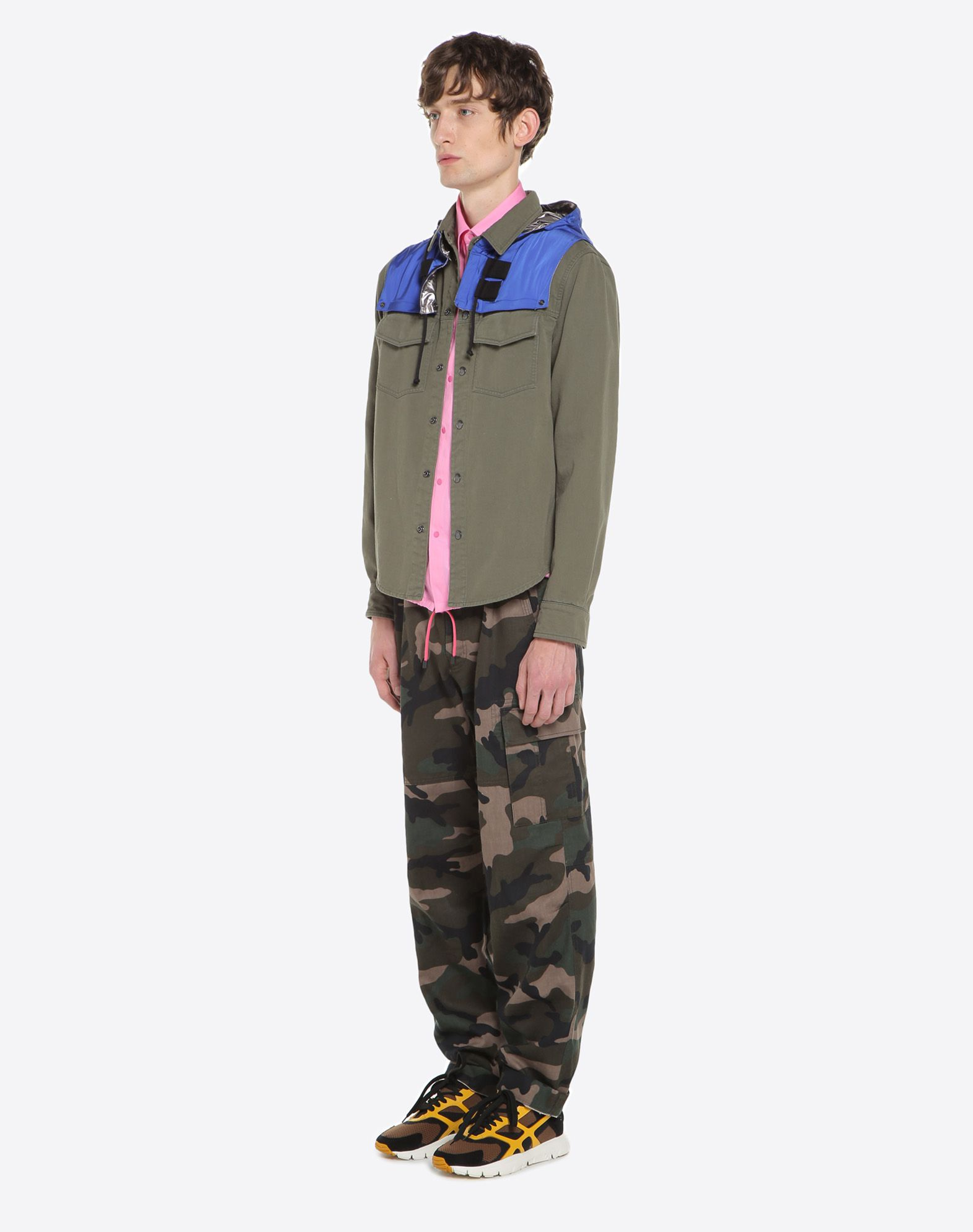 VALENTINO Outerwear shirt with nylon hood JACKET U d