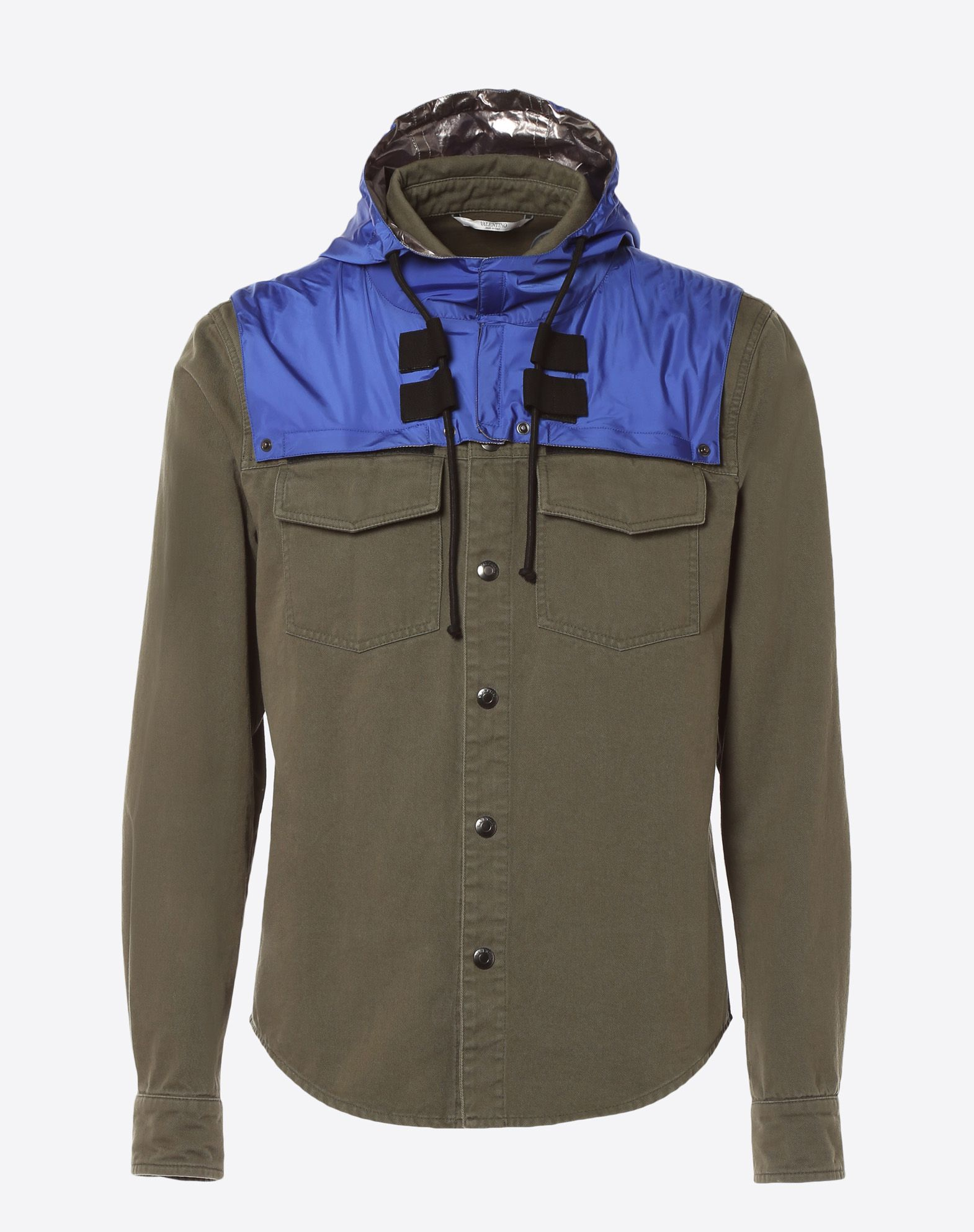 VALENTINO Outerwear shirt with nylon hood JACKET U f