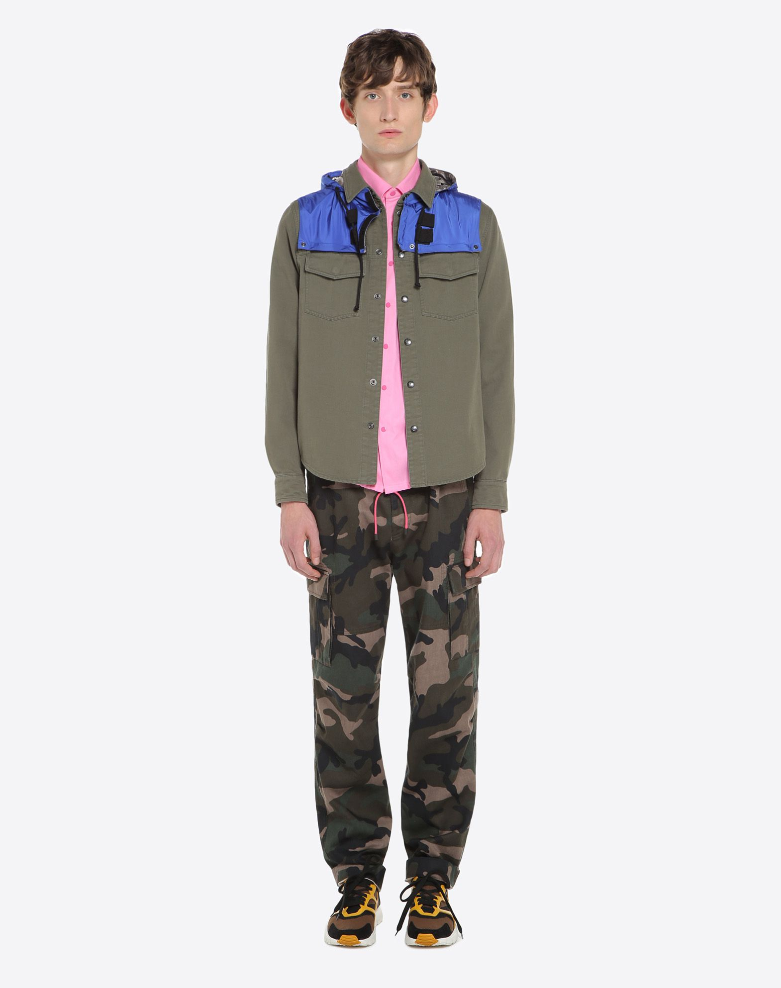 VALENTINO Outerwear shirt with nylon hood JACKET U r