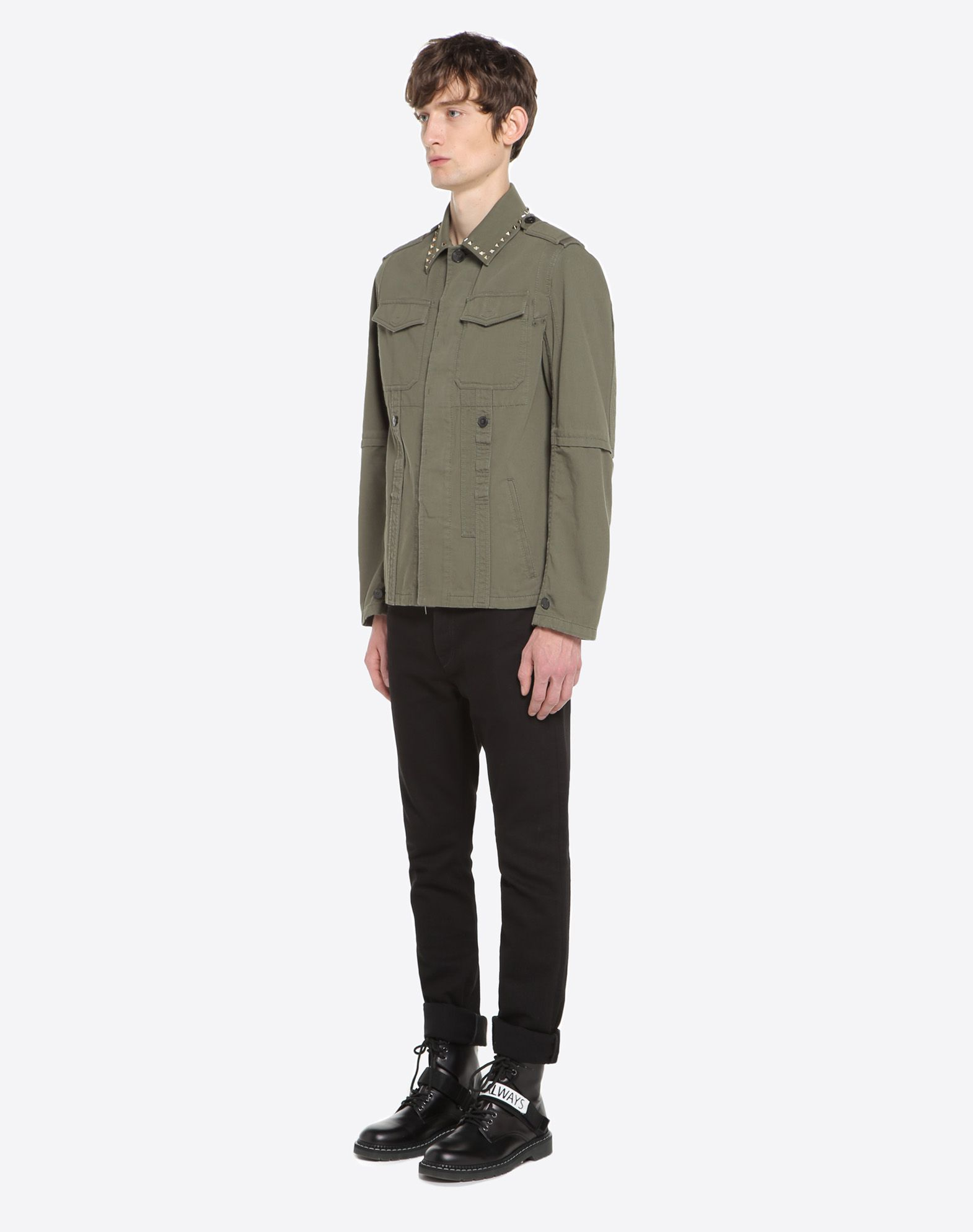 VALENTINO Rockstud Untitled Safari Jacket PEA COAT U d