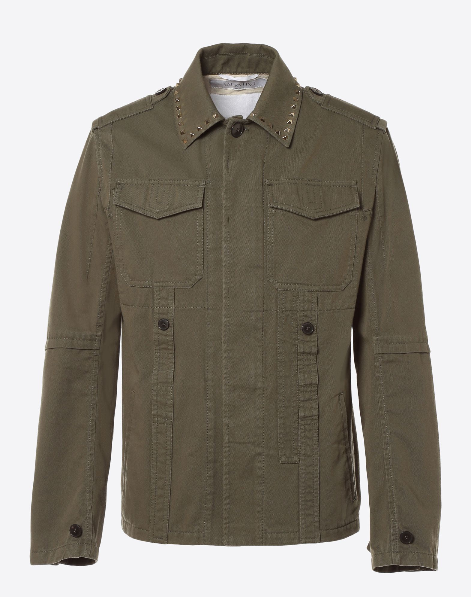 VALENTINO Rockstud Untitled Safari Jacket PEA COAT U f