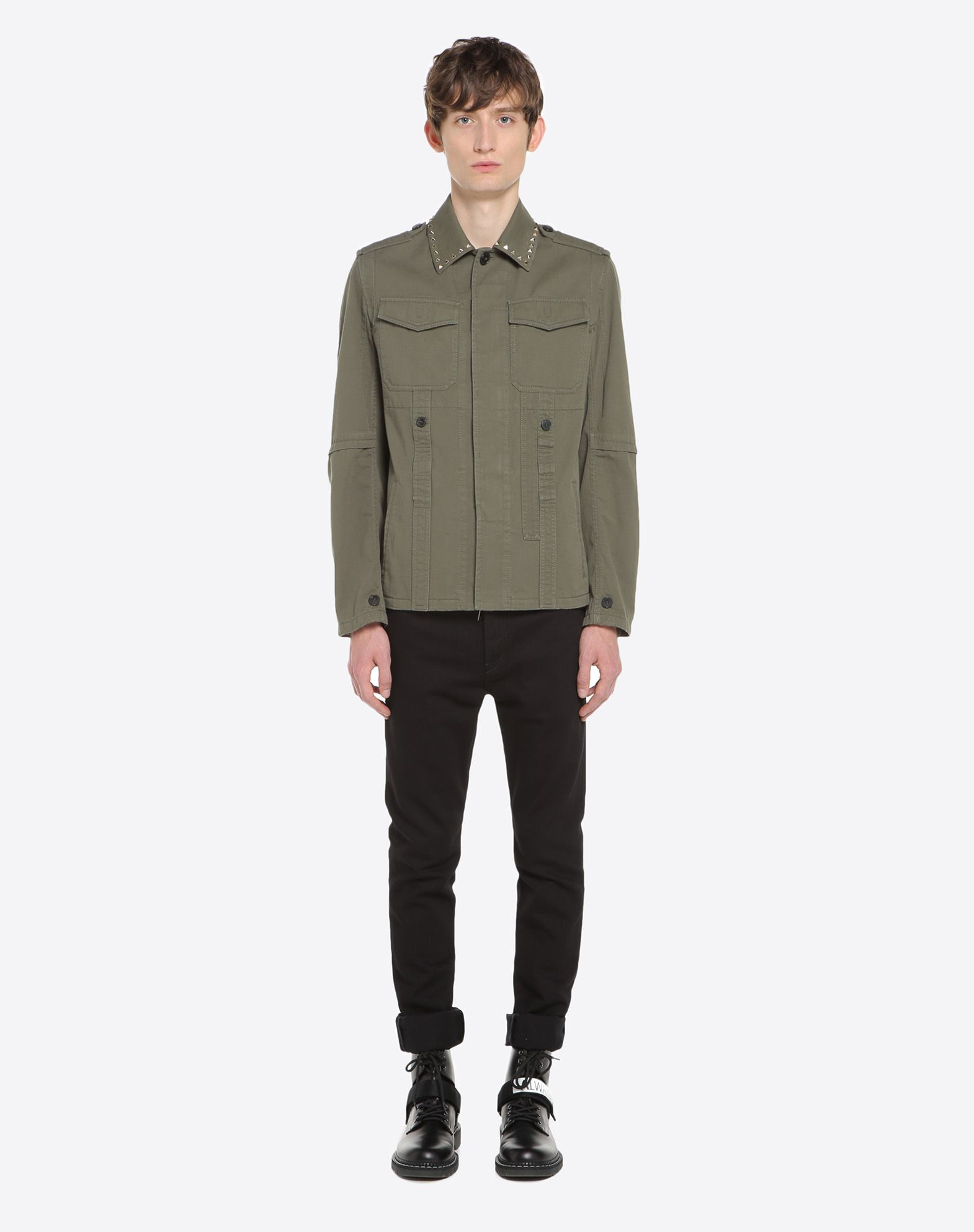 VALENTINO Rockstud Untitled Safari Jacket PEA COAT U r