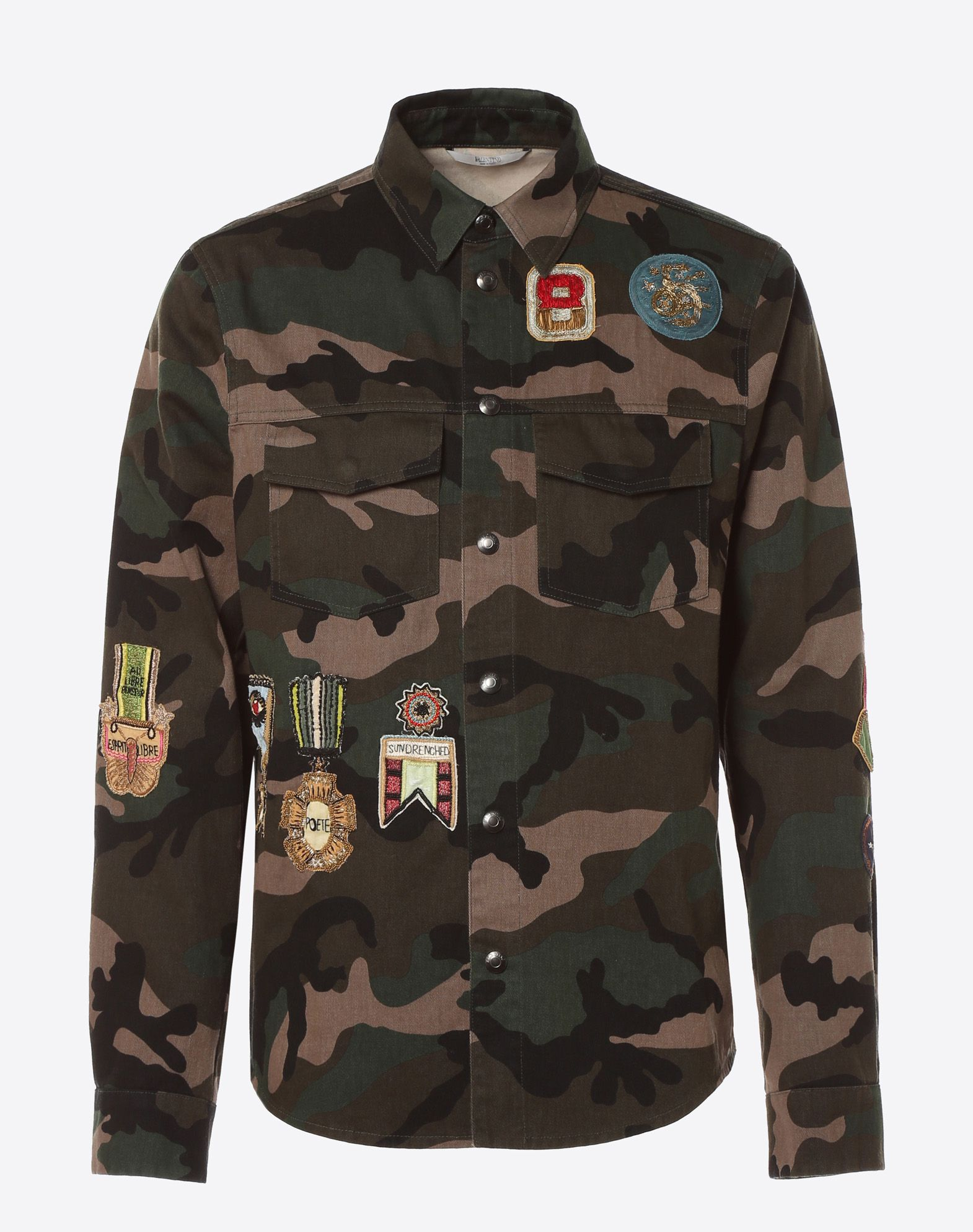 VALENTINO Outerwear shirt with military embroidery JACKET U f