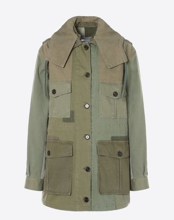 VALENTINO Trench D Hammered satin trench coat f