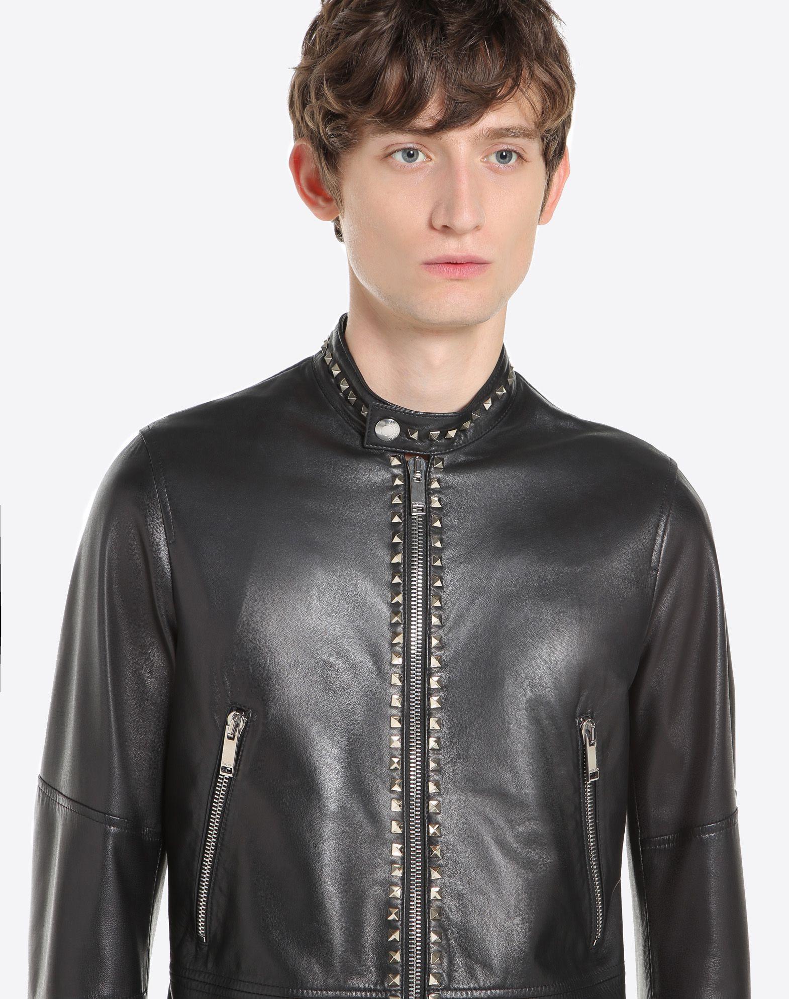 VALENTINO Rockstud Untitled leather biker jacket JACKET U a