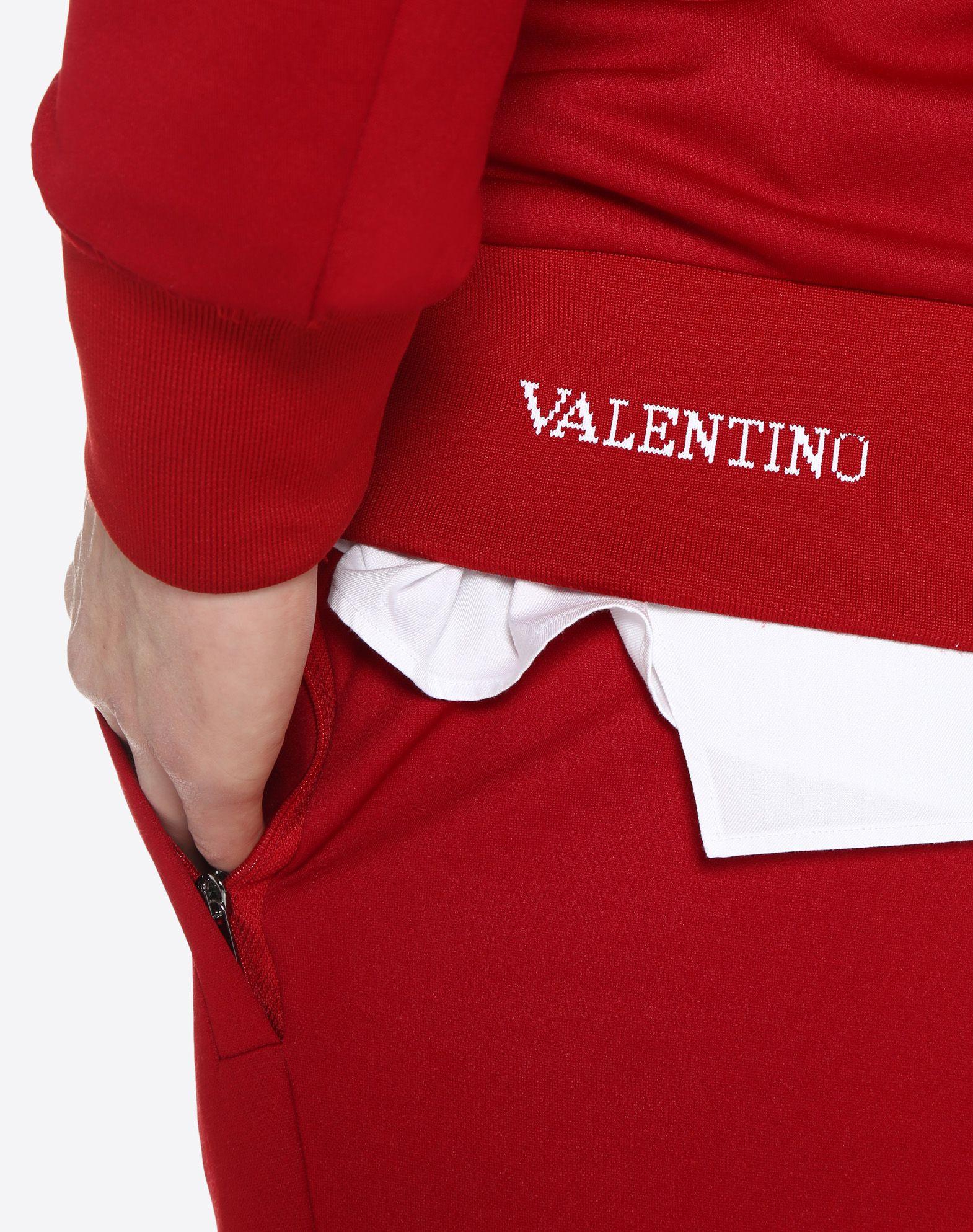 VALENTINO Vertical stripe inlays sweatshirt with VLTN logo JACKET U a