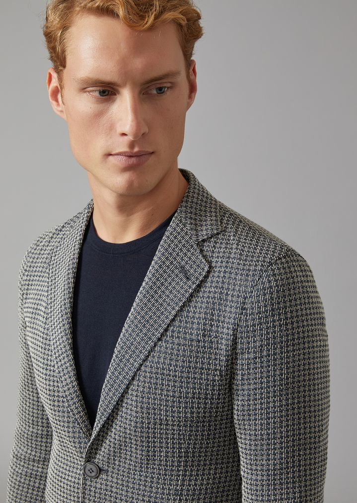 GIORGIO ARMANI Upton jacket in linen blend Formal Jacket Man a
