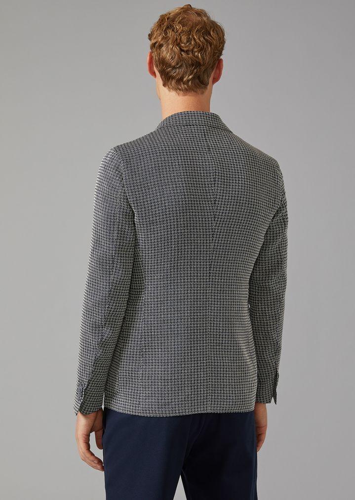 GIORGIO ARMANI Upton jacket in linen blend Formal Jacket Man e