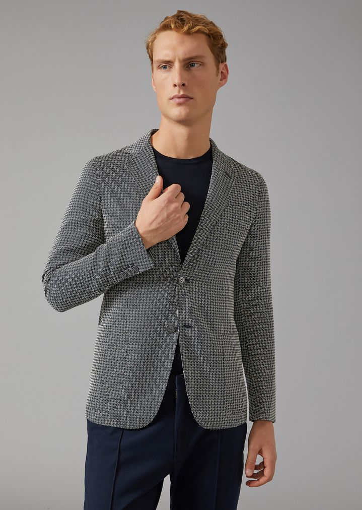 GIORGIO ARMANI Upton jacket in linen blend Formal Jacket Man f