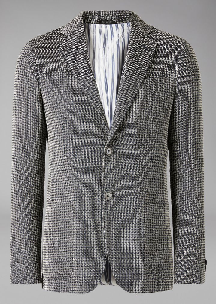 GIORGIO ARMANI Upton jacket in linen blend Formal Jacket Man r