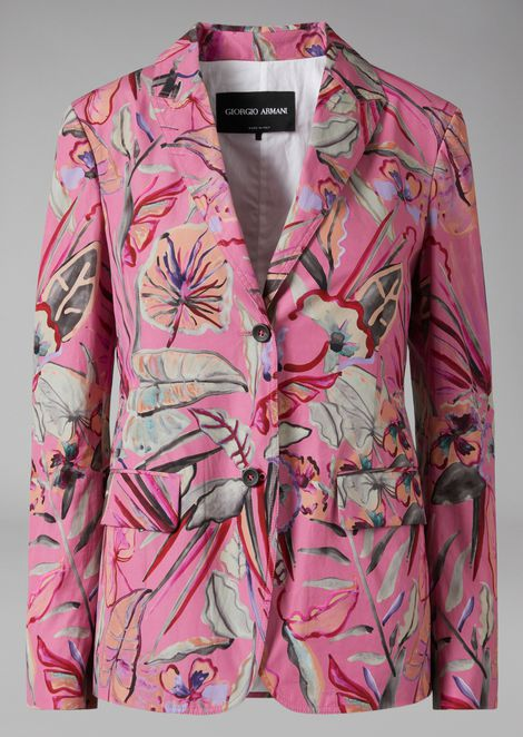 Jacket in floral cloth
