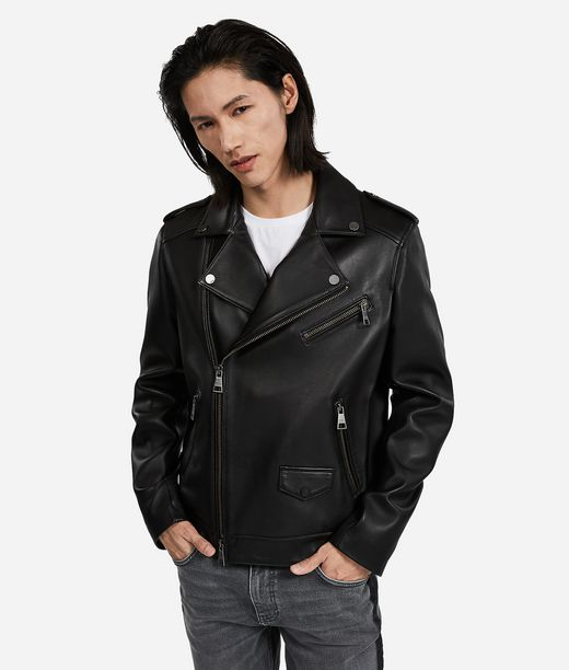 KARL LAGERFELD Ikonik leather biker jacket 12_f