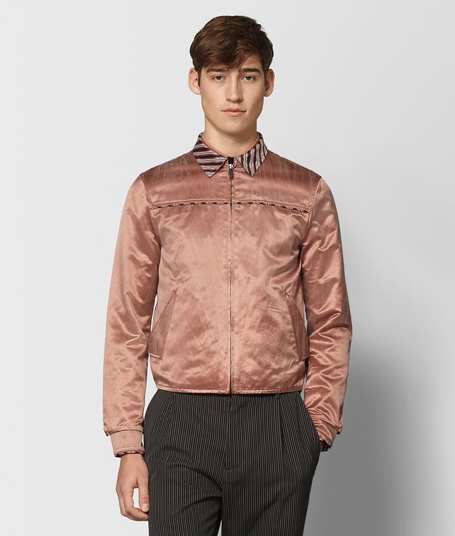 BOTTEGA VENETA REVERSIBLE DAHLIA VINTAGE SATIN JACKET Outerwear and Jacket Man fp