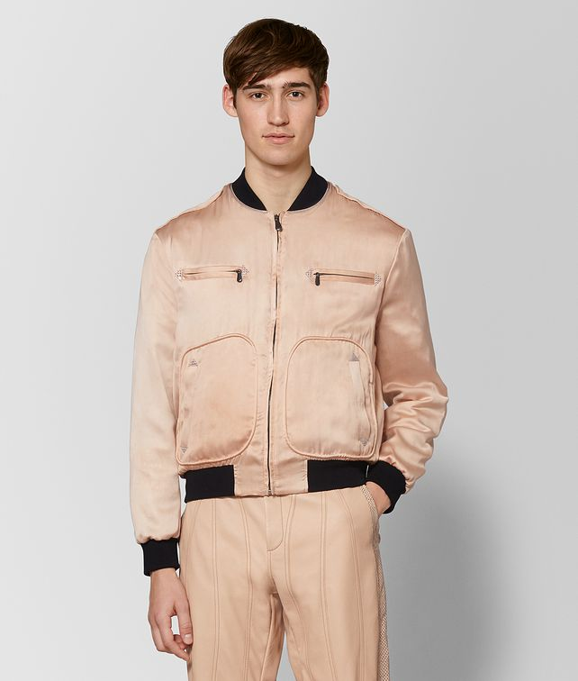 BOTTEGA VENETA PEACH ROSE SILK JACKET Outerwear and Jacket Man fp