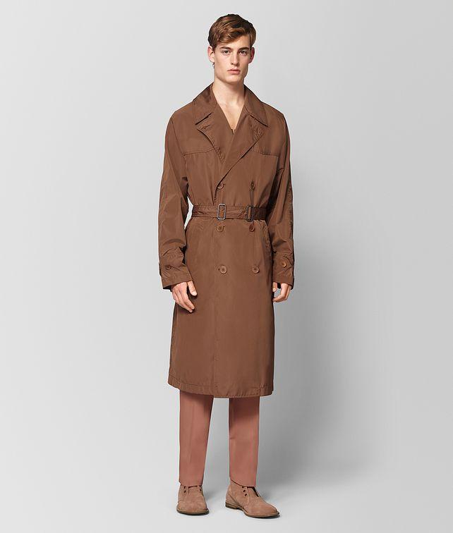 BOTTEGA VENETA LIGHT CALVADOS POLYESTER COAT Outerwear and Jacket Man fp