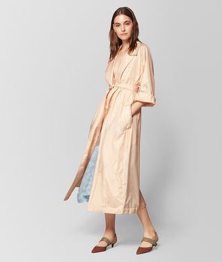LIGHT PEACH ROSE SILK COAT
