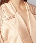 BOTTEGA VENETA LIGHT PEACH ROSE SILK COAT Outerwear and Jacket Woman ap