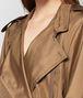 BOTTEGA VENETA CAMEL SILK COAT Outerwear and Jacket Woman ap