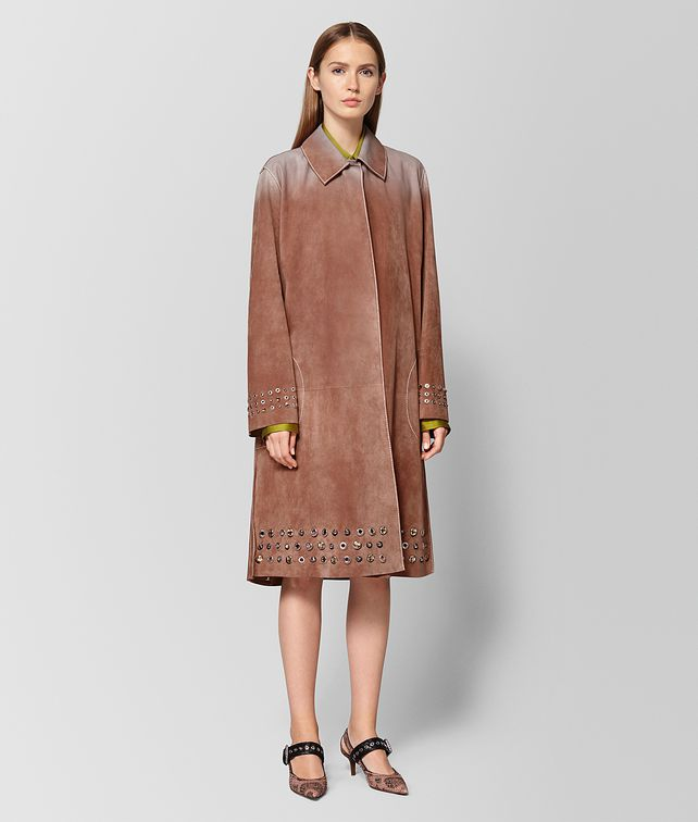 BOTTEGA VENETA DAHLIA SUEDE COAT Outerwear and Jacket Woman fp