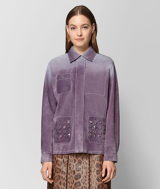 BOTTEGA VENETA LILAC SUEDE JACKET Outerwear and Jacket Woman fp