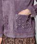 BOTTEGA VENETA LILAC SUEDE JACKET Outerwear and Jacket Woman ap