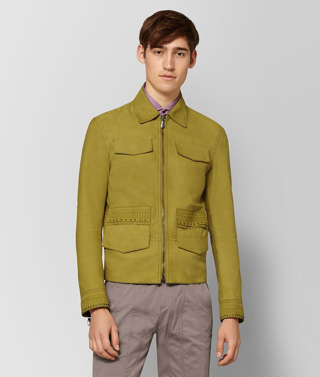 BOTTEGA VENETA CHAMOMILE SUEDE JACKET Outerwear and Jacket [*** pickupInStoreShippingNotGuaranteed_info ***] fp